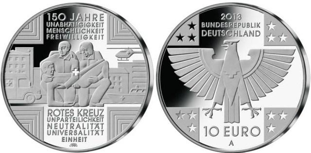 10 euros alemania 150 años de la cruz roja