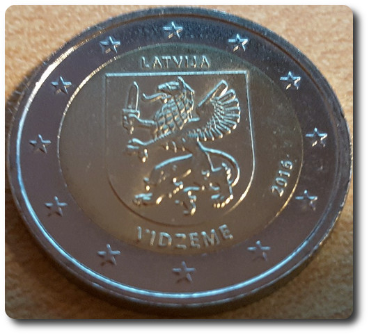 Moneda de 2 euros conmemorativa Letonia 2016 Vid