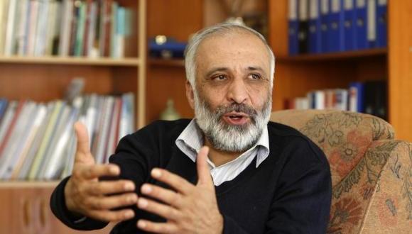 Mohammad Masoom Stanekzai speaks during an interview in Kabul