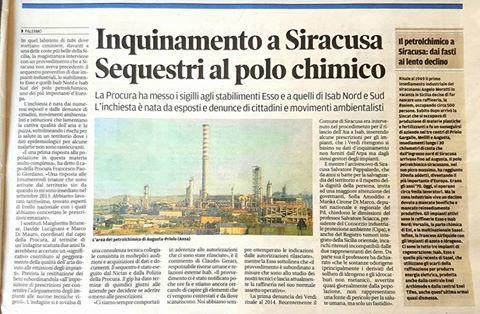 inquinamento Siracusa