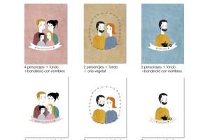 Varios tipos de ilustraciones personalizadas
