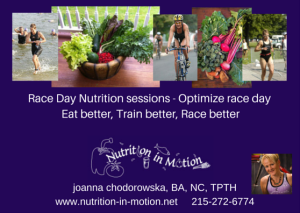 Race Day Nutrition sessions - postcard