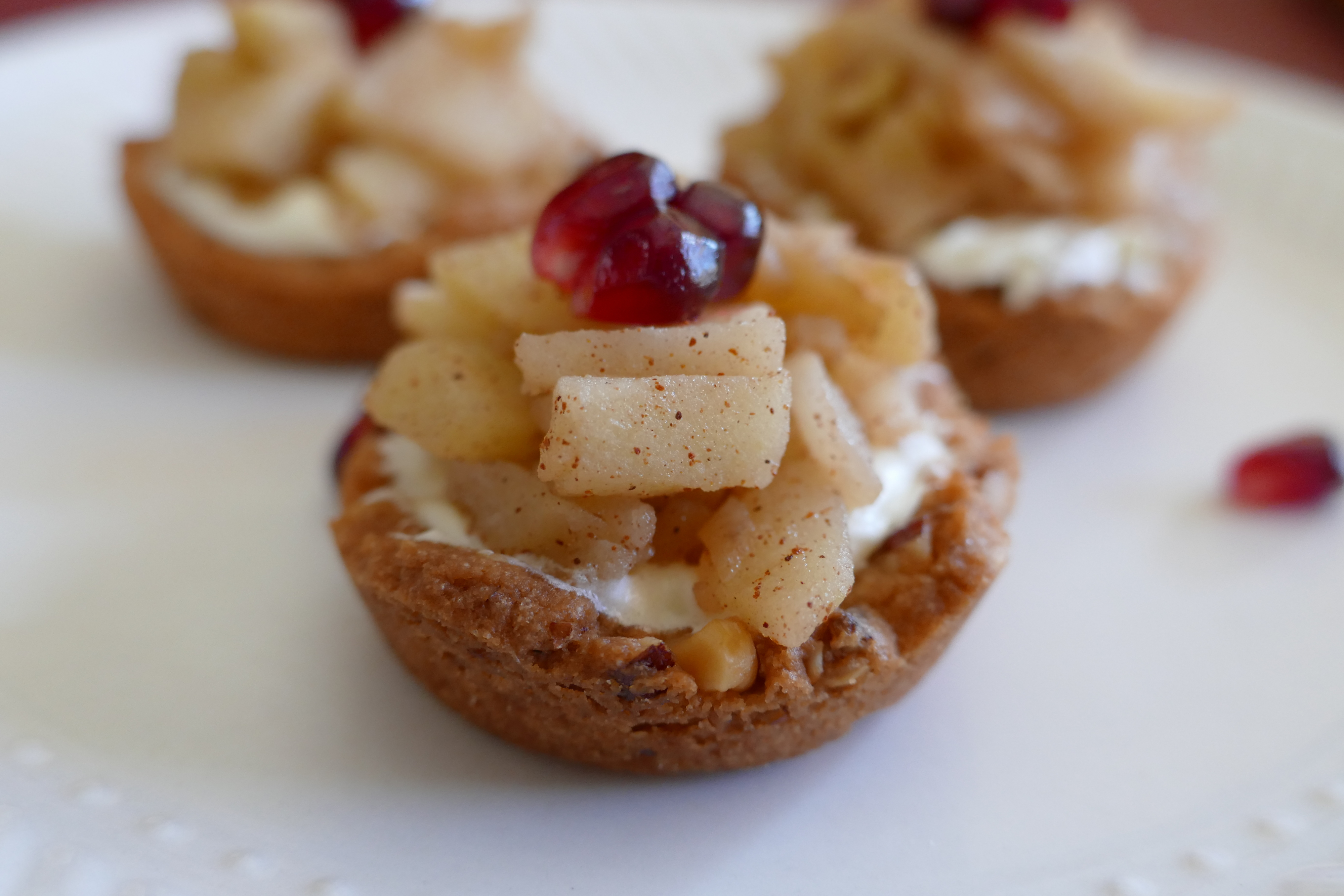Healthy Holiday Desserts Mini Apple Tarts The Nutty