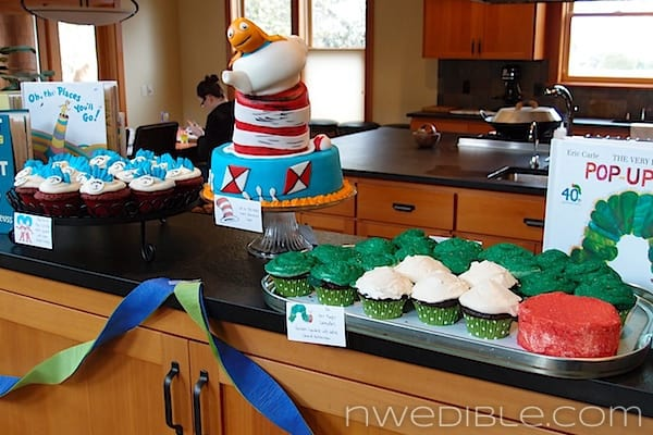 Children's Book Shower Dessert Buffet