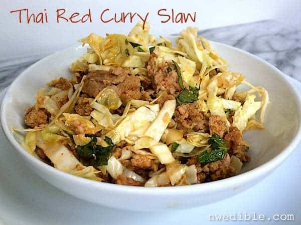 Thai Red Curry Cabbage Salad