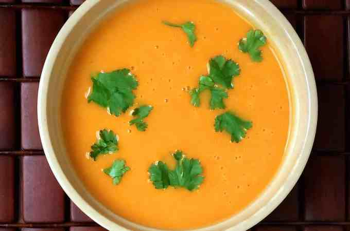Carrot Soup with Green Curry and Coconut Milk