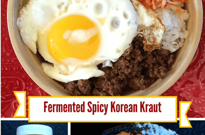 Lacto Fermented Spicy Korean Kraut