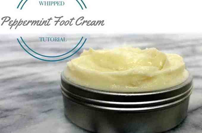 DIY Whipped Peppermint Foot Cream