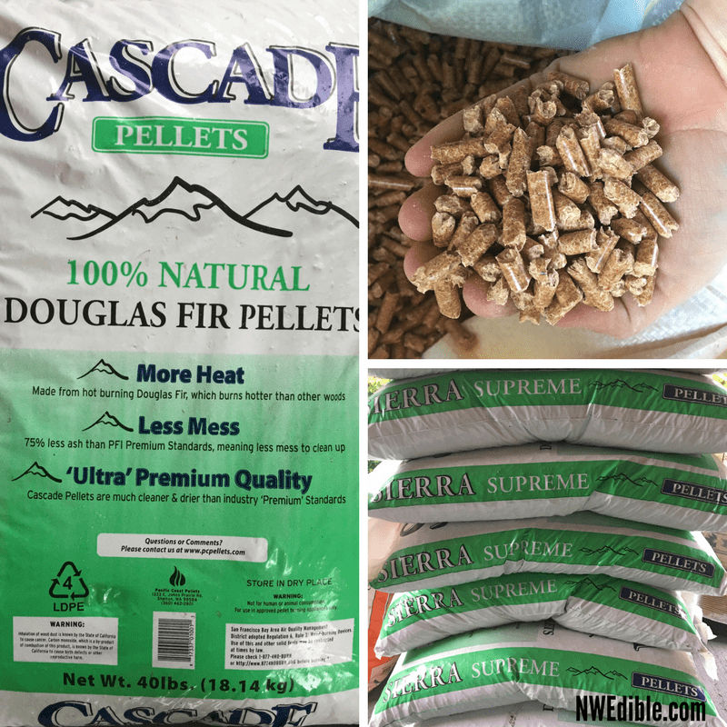 A 40 pound bag of these pellets is about $5 in my 'hood. Purchase locally and stock up in the winter, when wood stove pellet fuel is widely available.
