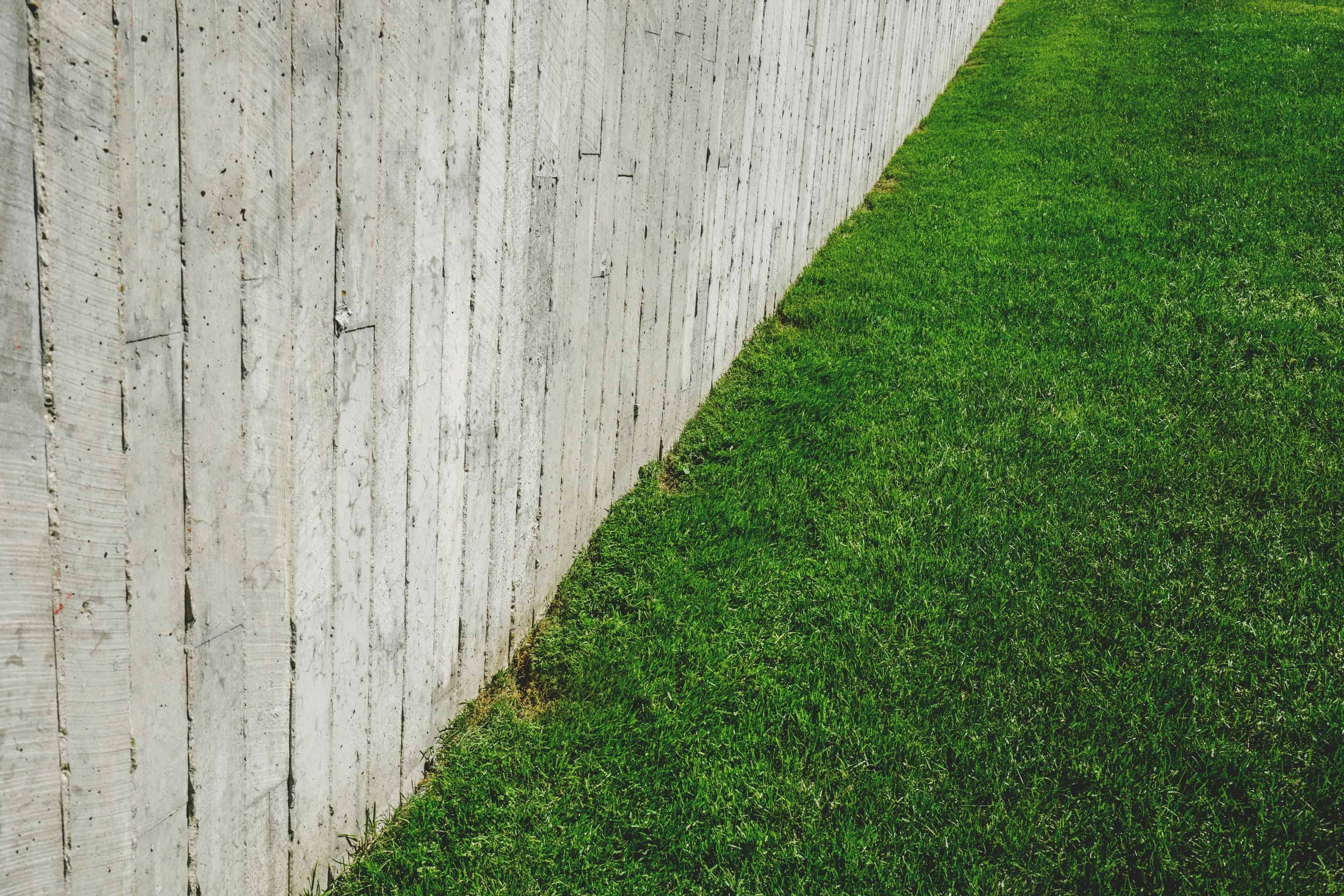 If grass is the only socially acceptable choice, you might need a solid fence.
