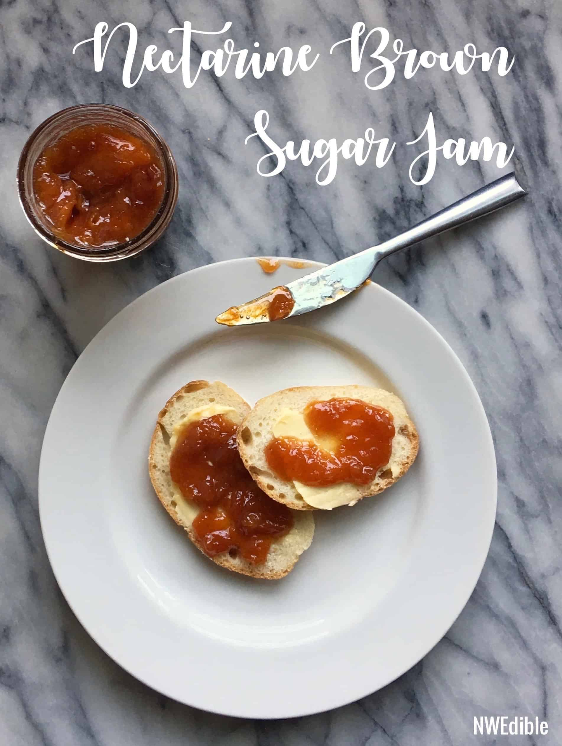 Nectarine Brown Sugar Jam Recipe