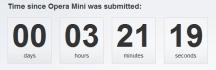 Countup von Opera zur Zulassung  des Opera Mini Browsers auf dem iPhone