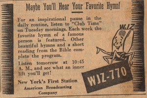 Shea on NYC radio, May 18, 1947. Clip courtesy of: BIlly Graham Center