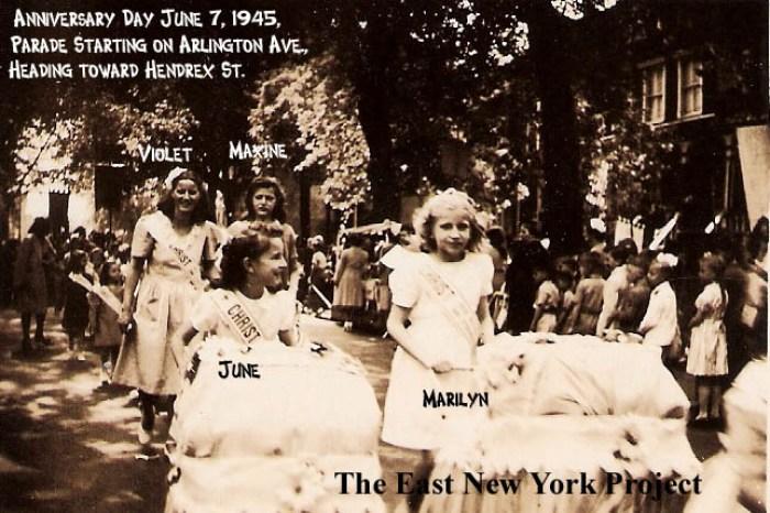 Anniversary Day Parade on Arlington Ave, Brooklyn,1945