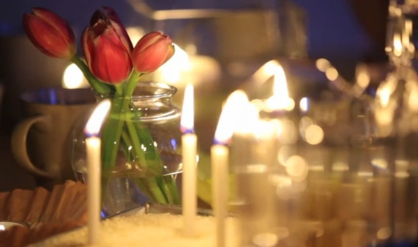 Dinner Flowers Candels