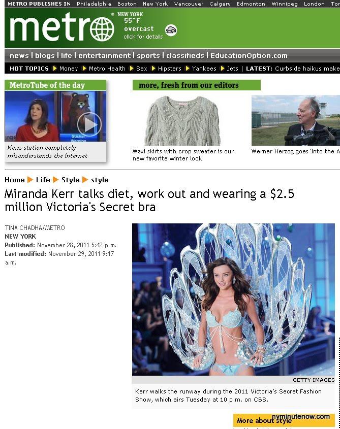 Victoria's Secret Diet?