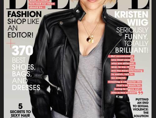 nyminutenow elle magazine august 2014 kristen wiig