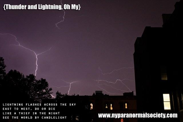Lightning in Brooklyn -New York Paranormal Society
