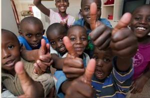 Happy African Children Nyumbani Village Kenya