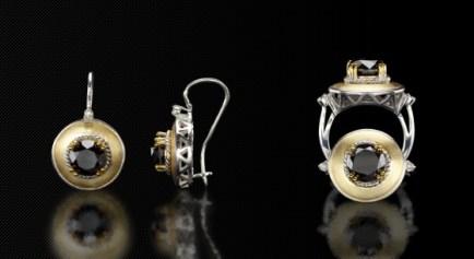 gold and blackdiamonds