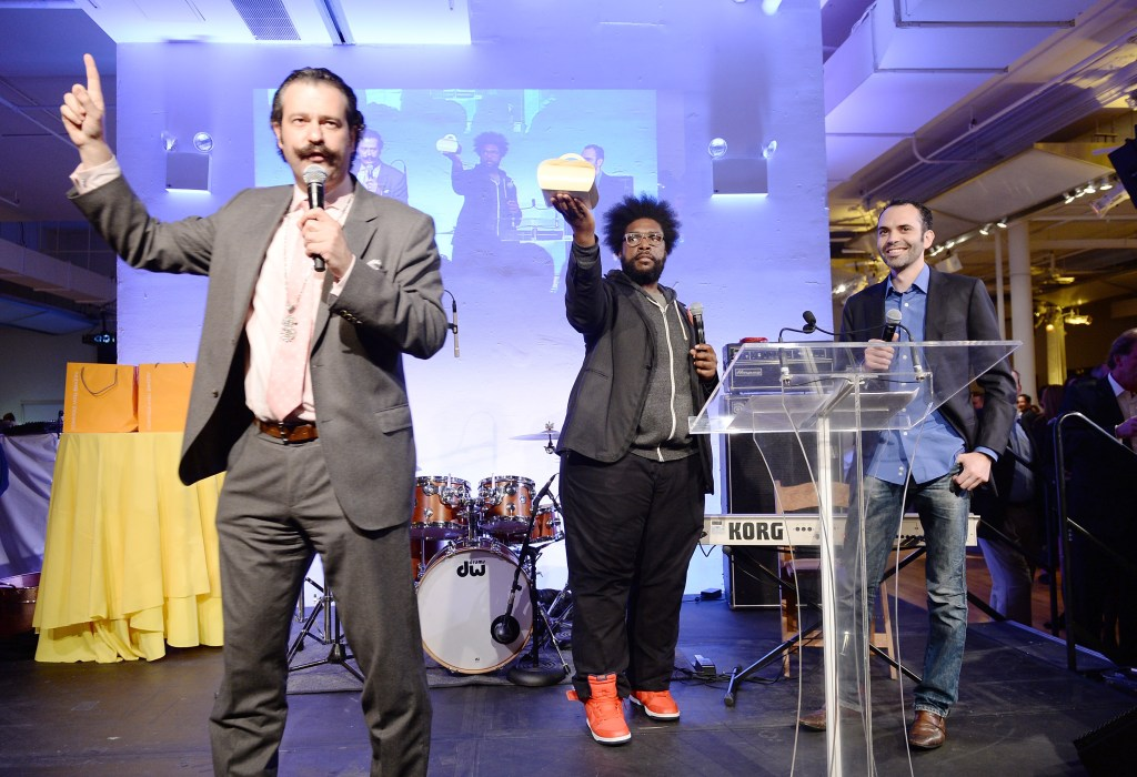 Nicho Lowry joins QuestLove and Dominque Ansel  as they  auction off a box of 1 dozen of  Ansel's Cronuts