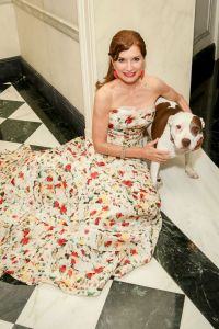 Jean Shafiroff and her rescue pitbull, Bella