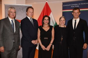 Stephen E. Benko, Ambassador Dr. Ferenc Kumin, Sylvia Hemmingway, Harriet Mouchly-Weiss and Adam Gyorgy_Credit Annie Watt