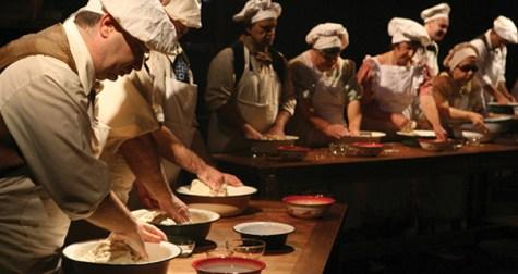 Deaf and blind actors break bread, barriers