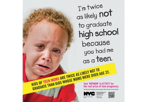 Ads against teenage pregnancy generate controversy