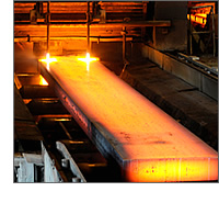 HIC Material being cut into slabs after casting