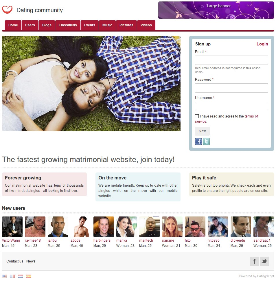 Dating Script - Dating Software