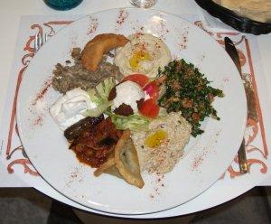 Assiette vegetarienne libanaise