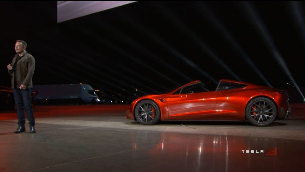 Photos: Elon Musk unveils Tesla's new electric semi truck and new Roadster – Orange County Register