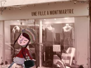 Une fille à Montmartre