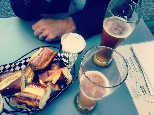 Prezels and beer-cheese at Holy Grale