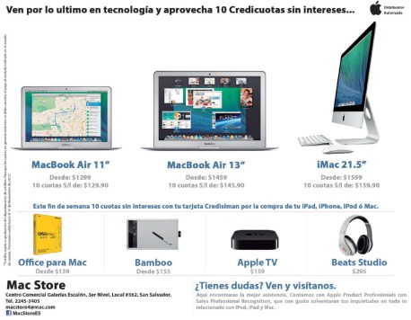 MacBook Air 11 lo mejore de apple en el salvador - 15nov13