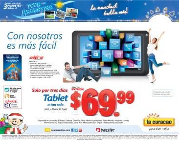 Solo por 3 dias oferta TABLET en La Curacao - 15nov13