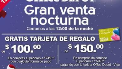 Gran venta noctura office depot Regalo