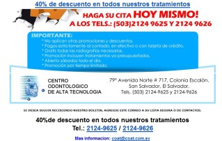 Descuento Centro Odontologico El Salvador de alta tecnologia