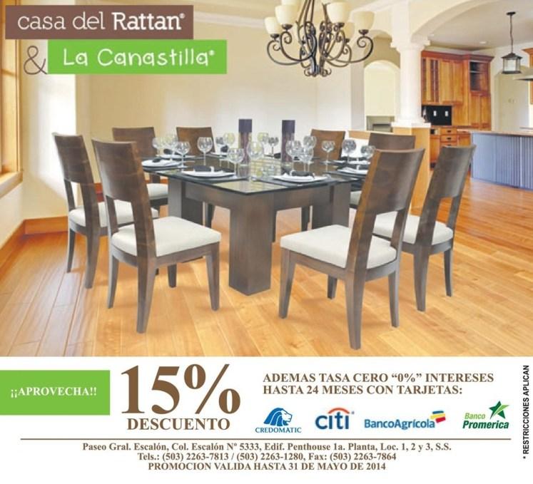 Decuento casa del RATTAN y la CANASTILLA - 13may14