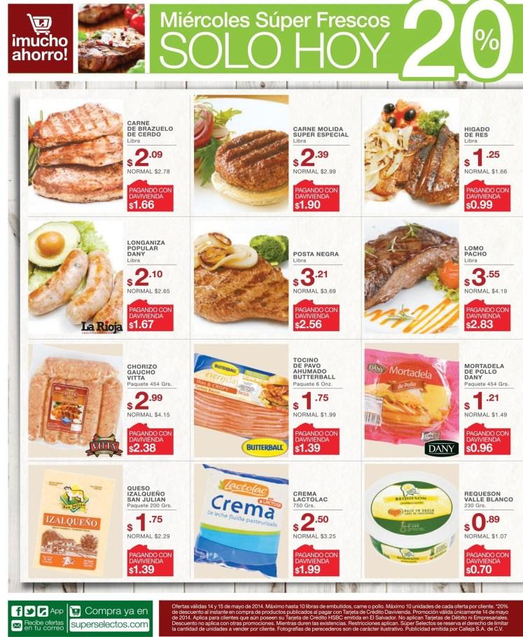 Miercoles 14may14 - Super Selectos ofertas Super Fresco