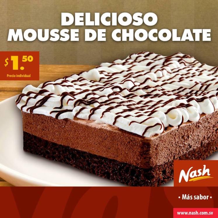 Postre de la tarde DELICIOSO MOUSSE de chocolate