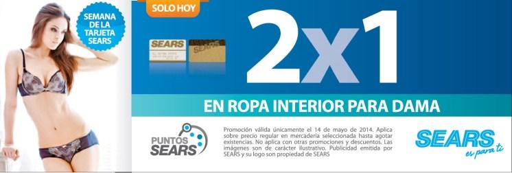 Ropa interior intima para DAMA 2x1 gracias a SEARS - 14may14