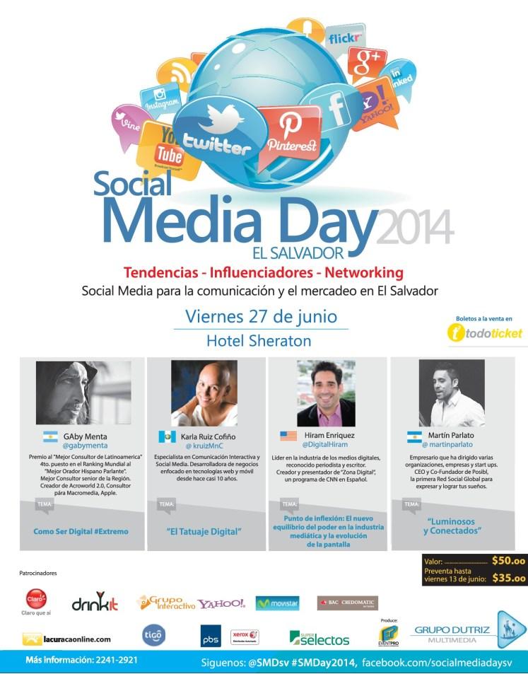 Como ser DIGITAL extremo SOCIAL media day el salvador 2014