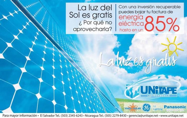 La luz solar es gratis GE panasonic Yingli SOLAR energy