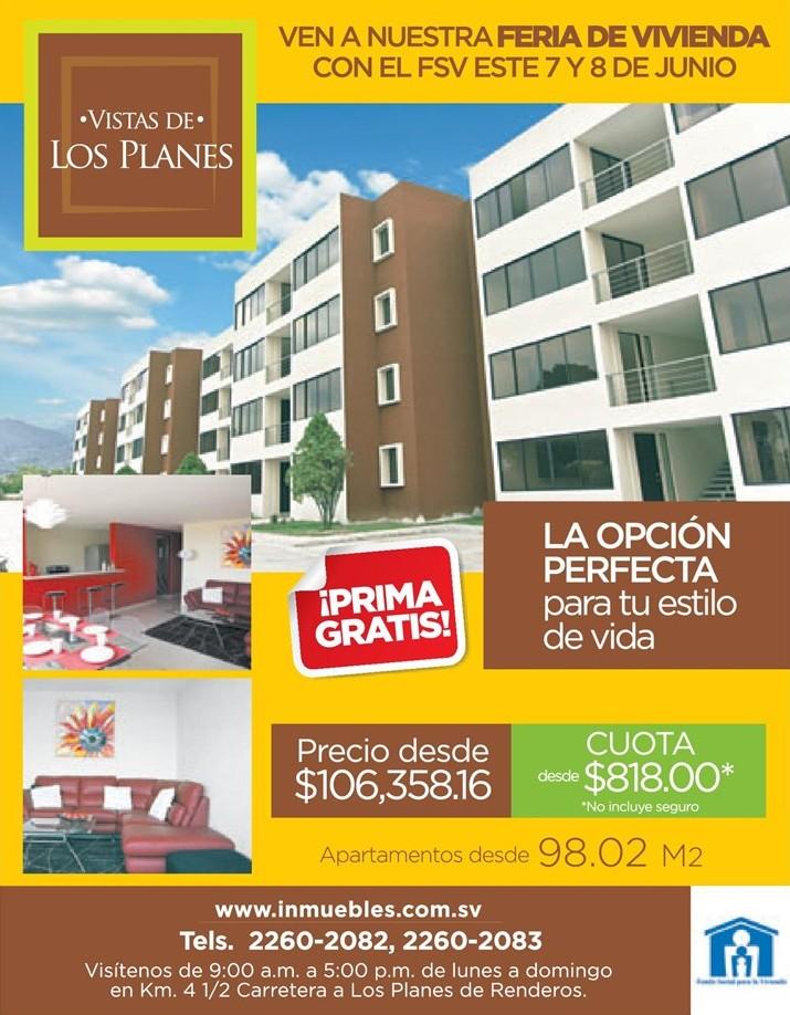 PRIMA GRATIS apartamento VISTA LOS PLANES
