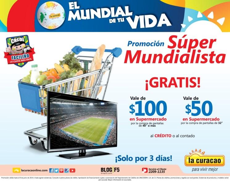 Promocion SUPER mundialista VALE de supermercado por 100 dolares - 06jun14