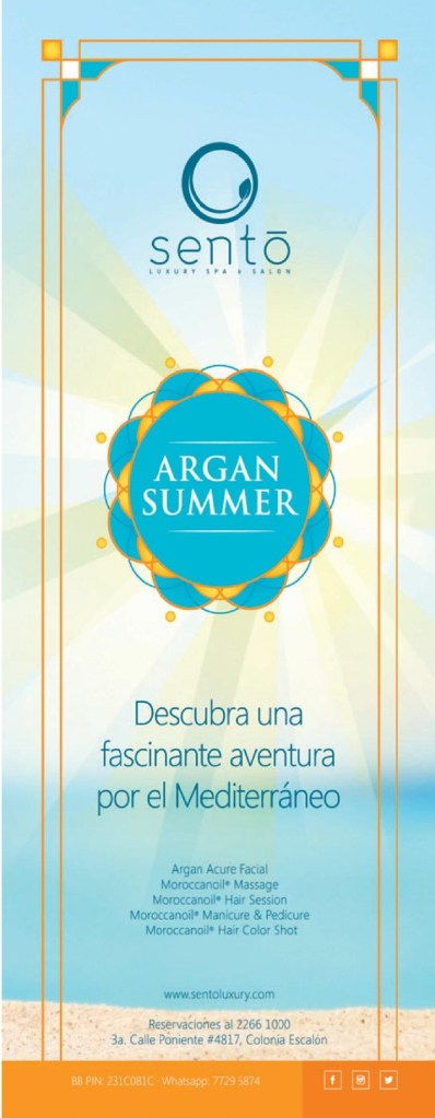 SENTO SPA luxory clinic ARGAN SUMMER