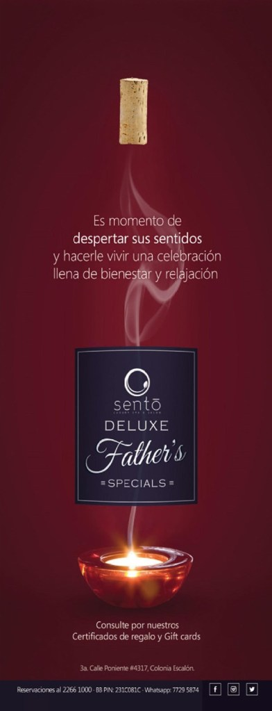SENTO deluxe FATHERS special promotion