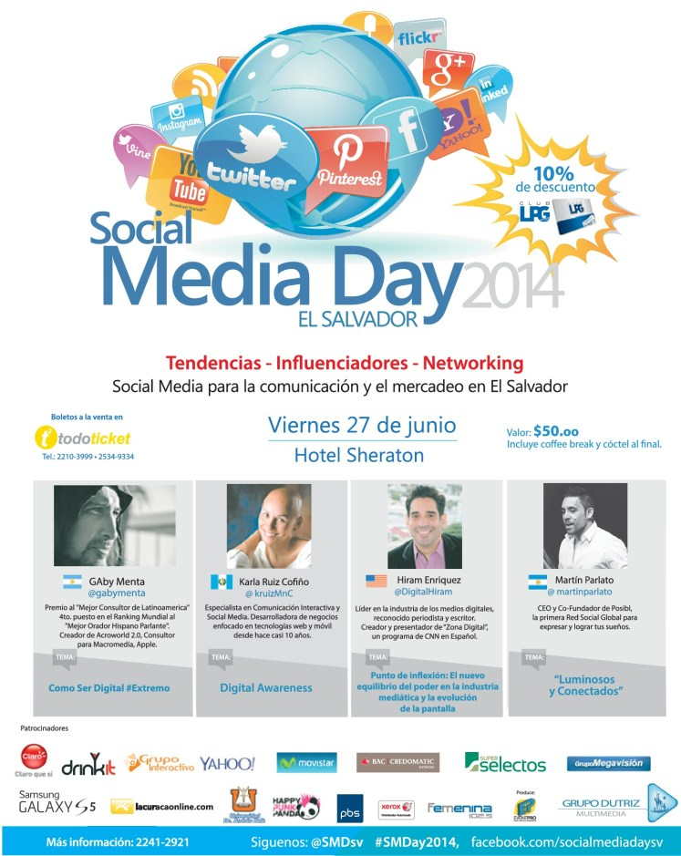 Se acerca el social media day 2014 - 25jun14